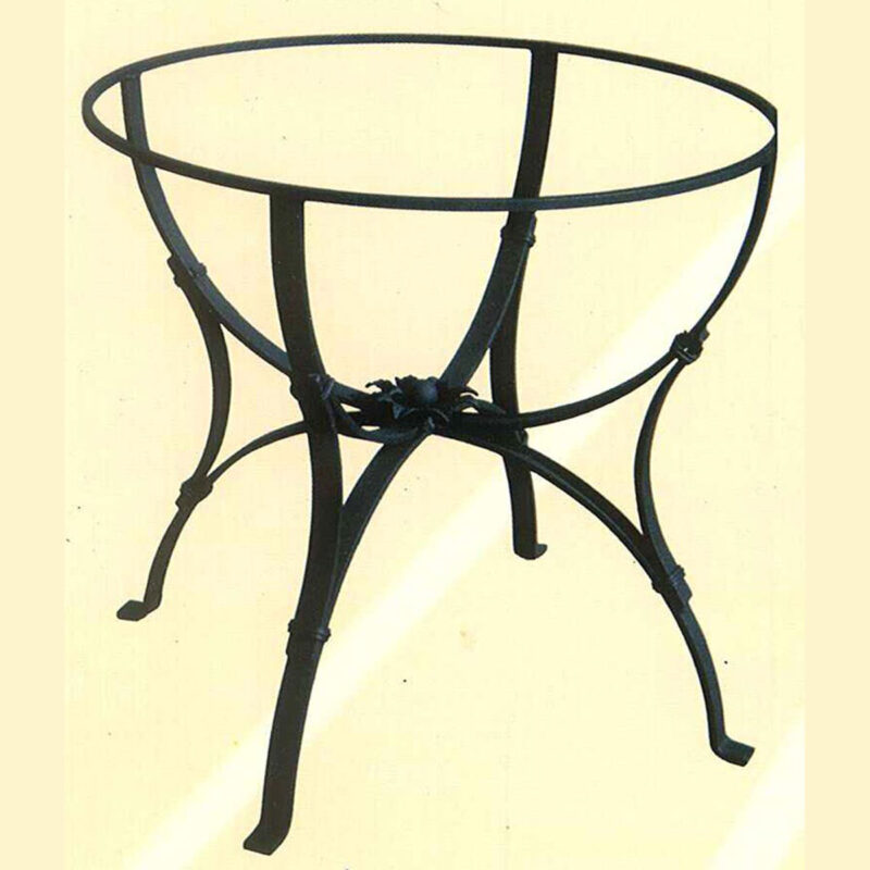 Wrought Iron Base for lava stone table